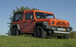 Picture grass, orange, meadow, SUV, 2011, 4x4, Travec, Tecdrah Integrale 1.5 TTi, Renault/Dacia Duster, frame