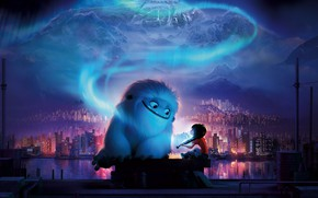 Picture mountains, the city, cartoon, Yeti, Cartoon, Everest, Abominable