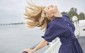 Picture girl, hair, dress, Melissa Benoist