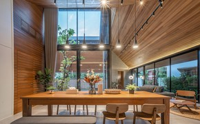 Picture design, furniture, the room, dining room, The Roof House