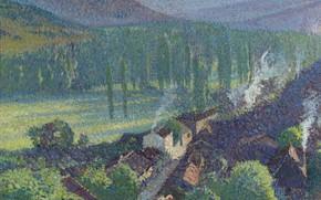 Picture landscape, picture, Henri-Jean Guillaume Martin, Henri Matrin, Labastide-du-Vert. Valley Lo
