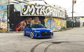Picture Audi, Blue, Graffiti, Before, RS6, VAG