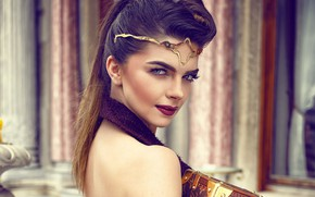 Picture look, girl, face, portrait, makeup, beautiful, Pelin Karahan