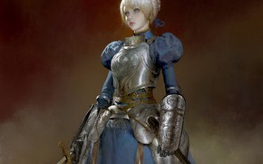 Picture girl, painting, Saber, the saber, Fate / Stay Night, Fate stay Night