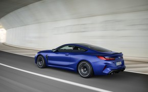 Picture road, coupe, speed, BMW, 2019, BMW M8, M8, M8 Competition Coupe, M8 Coupe, F92