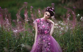 Picture girl, nature, mood, dress, Alina, Светлана Бойнович