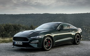 Picture greens, Mustang, Ford, 2018, Bullitt, fastback