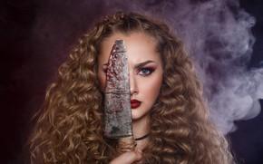Picture knife, Make up, pretty, Dmitry Spivak