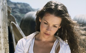 Wallpaper look, pose, brunette, Lost, the series, Evangeline Lilly, To stay alive, hair, Evangeline Lilly, Kate ...