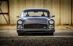 Picture Car, Old, Gray, Custom, Chevrolet 210