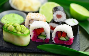 Picture food, sushi, seafood
