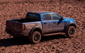 Picture blue, Ford, shadow, Raptor, pickup, 2018, Ranger