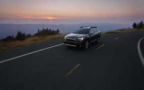 Picture road, Subaru, universal, Outback, AWD, 2020