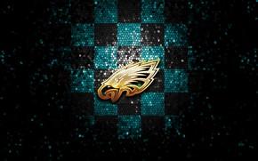Picture wallpaper, sport, logo, NFL, glitter, checkered, Philadelphia Eagles