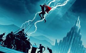 Picture Fight, Movie, Battle, Art, Art, The film, Fiction, Fiction, Thor, Thor, Scene, Marvel Comics, MARVEL, …