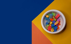 Picture background, colored, Cup, crayons