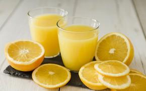 Picture glass, orange, juice, citrus, fresh