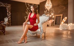 Picture dress, model, sofa, A Diakov George