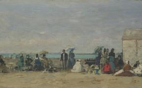 Picture picture, Eugene Boudin, Eugene Boudin, A beach scene. Trouville