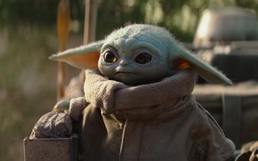 Picture green, star wars, series, baby, yoda, cute, mandalorian, the mandalorian, baby yoda