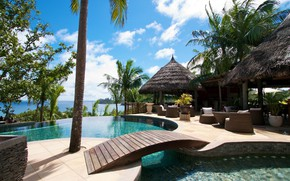 Picture stay, Seychelles, the hotel, the bridge, Bungalow, Bussan, Valmer Resort and Spa