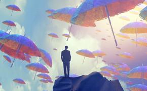 Picture James Grygier, The sky, by Jakub Grygier, Art, Umbrellas, Umbrella, Sky, Art, Umbrella, Male, Umbrellas, …
