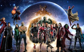 Picture fiction, collage, poster, characters, comic, superheroes, MARVEL, Avengers: Infinity War, The Avengers: infinity War
