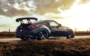 Picture Reflection, Road, Grass, Machine, Nissan, Drives, 370z, Nismo, Icon, Spoiler