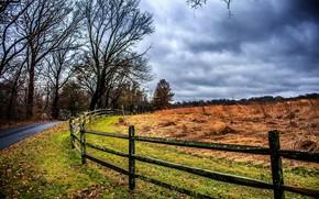 Picture rain, fence, Curve, Carelessly