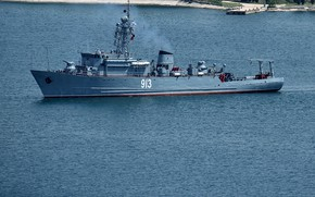 Picture sea, minesweeper, Sevastopol, project 266m, Kovrovets