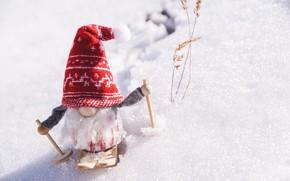 Picture winter, holiday, toy, Christmas, New year, Santa Claus, Christmas decorations, новогодние декорации