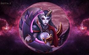 Picture moon, Dota 2, Akasha, queen of pain, vengeful spirit, MOBA games