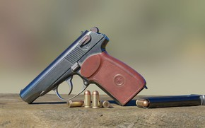 Picture rendering, gun, weapons, cartridges, shop, firearms, Makarov