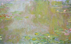 Picture Claude Monet, 1917, Lilies Pond, The Water