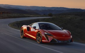 Picture road, McLaren, supercar, hybrid, high technology, 2022, Artura, McLaren Artura