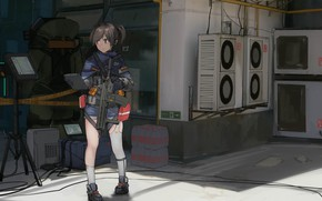 Picture weapons, girl, Girls Frontline
