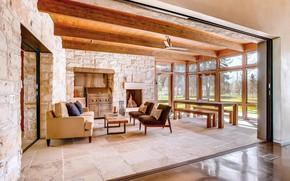 Picture furniture, interior, oven, terrace, ranch