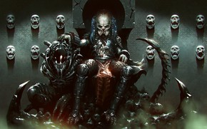 Picture Figure, Skull, Predator, Art, Predator, Fiction, The throne, Concept Art, Character, Collection, Collector, Collector, Science …