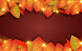 Picture Burgundy, background, leaves, texture, orange, autumn