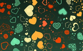 Picture background, pattern, hearts, color