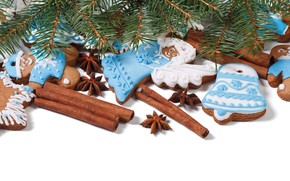 Picture tree, cookies, Christmas, New year, cinnamon, cakes