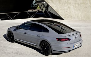 Picture roof, grey, coupe, Volkswagen, rear view, liftback, 2020, Arteon, 4Motion, R-Line Edition