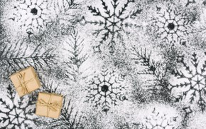 Picture winter, snow, decoration, snowflakes, background, New Year, Christmas, Christmas, winter, snow, New Year, snowflakes, decoration, …
