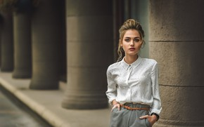 Picture look, girl, model, blonde, Dmitry Medved