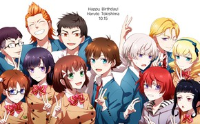 Picture group, anime, guys, friends, Kakumeiki Valvrave, Walgrave Liberator