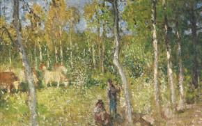 Picture landscape, picture, Pierre Eugène Montesin, Pierre-Eugene Montezin, Rural Scene
