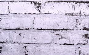 Picture wall, masonry, whitewash