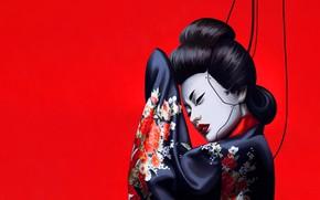 Picture Girl, Minimalism, Japan, Asian, Japan, Geisha, Japanese, Art, Robot, Illustration, Characters, Memoirs of a Geisha, …