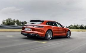 Picture Porsche, Panamera, universal, on the track, 2021, Panamera Turbo S Sport Turismo