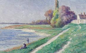 Picture landscape, picture, Maximilien Luce, Maximilien Luce, The Estuary Trieux